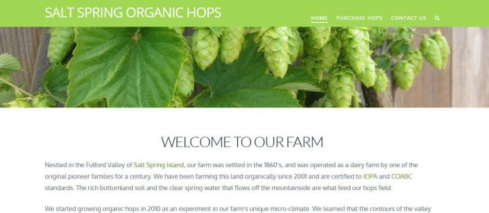 organic hops website